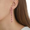 Rose Gold Vermeil Siren Mini Nugget Cocktail Earrings - Pink Quartz - Monica Vinader