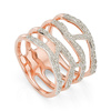 Rose Gold Vermeil Riva Waterfall Cocktail Diamond Ring - Diamond - Monica Vinader