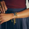 Sterling Silver Baja Facet Bracelet - Pink Quartz - Monica Vinader