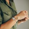 Nura Friendship Bracelet - Silver Metallica - Monica Vinader