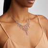 Rose Gold Vermeil Riva Waterfall Cocktail Diamond Necklace - Diamond - Monica Vinader