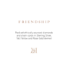 POD Card - Friendship Chain & Diamond - Monica Vinader
