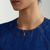 Gold Vermeil Linear Solo Diamond Pendant Charm - Diamond - Monica Vinader