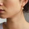 Gold Vermeil Siren Mini Nugget Hoop Earrings - Moonstone - Monica Vinader
