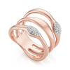 Rose Gold Vermeil Nura Teardrop Multi Band Diamond Ring - Diamond - Monica Vinader