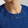 Sterling Silver Nura Heart Necklace - Monica Vinader