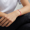 Sterling Silver Linear Solo Friendship Diamond Bracelet - Fluro Coral Cord - Diamond - Monica Vinader