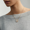 Rose Gold Vermeil Atlantis Hamsa Necklace - Grey Agate - Monica Vinader