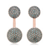 Rose Gold Vermeil Stellar Earrings - Blue Diamond - Monica Vinader