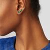 Gold Vermeil Riva Diamond Circle Stud Single Earring - Diamond - Monica Vinader