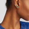 Gold Vermeil Siren Climber Single Earring - Green Onyx - Monica Vinader