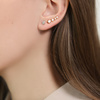 Rose Gold Vermeil Nura Teardrop Climber Single Earring - Monica Vinader