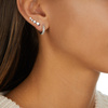 Sterling Silver Nura Teardrop Climber Single Earring - Monica Vinader
