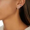 Sterling Silver Fiji Mini Hoop Diamond Single Earring - Diamond - Monica Vinader