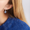 Sterling Silver Siren Wire Earrings - Kyanite - Monica Vinader
