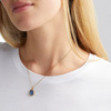 Rose Gold Vermeil Siren Medium Bezel Pendant Charm - Kyanite - Monica Vinader