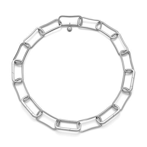Sterling Silver Alta Capture Large Link Necklace - Monica Vinader