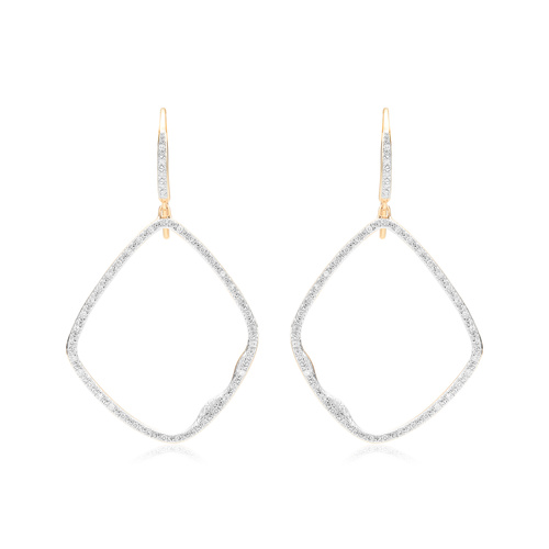 Gold Vermeil Riva Large Hoop Cocktail Diamond Earrings - Diamond - Monica Vinader
