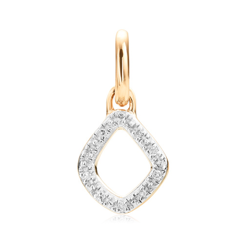 Gold Vermeil Riva Mini Kite Diamond Pendant Charm - Diamond - Monica Vinader