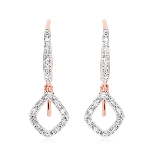Rose Gold Vermeil Riva Mini Kite Drop Diamond Earrings - Diamond - Monica Vinader