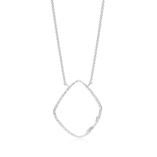 Sterling Silver Riva Hoop Cocktail Diamond Necklace - Diamond - Monica Vinader
