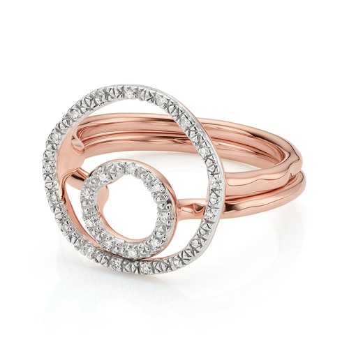 Riva Circle and Mini Circle Ring Set - Monica Vinader