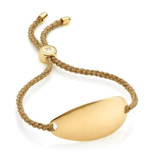 Gold Vermeil Nura Friendship Bracelet - Gold Metallica - Monica Vinader