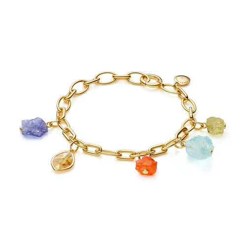 Gold Vermeil Gemstone Bracelet - Mix - Monica Vinader