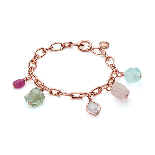 Rose Gold Vermeil Gemstone Bracelet - Mix - Monica Vinader