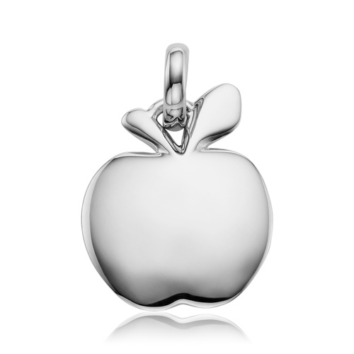 Sterling Silver Apple Pendant Charm - Monica Vinader