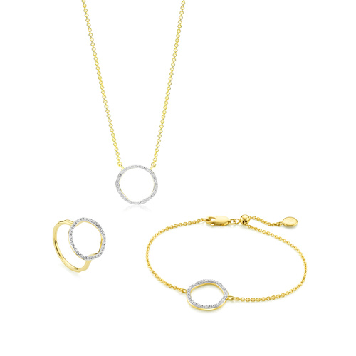 Riva Circle Diamond Set - Monica Vinader