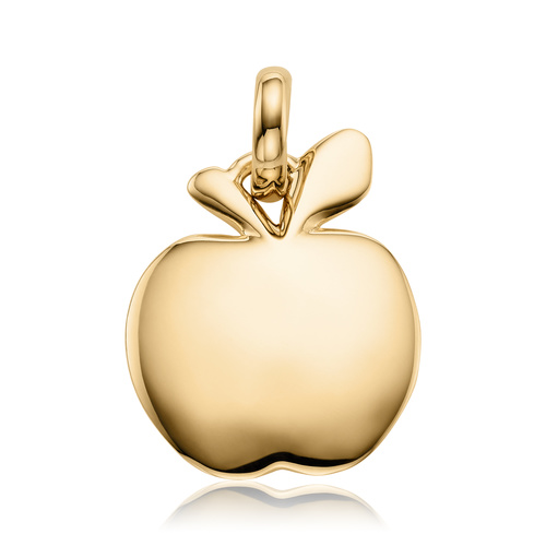 Gold Vermeil Apple Pendant Charm - Monica Vinader