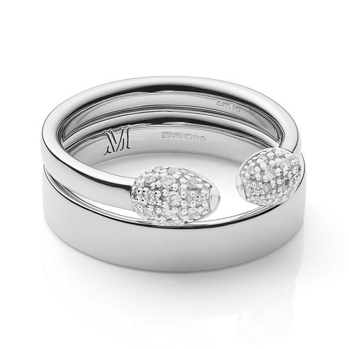 Fiji Bud and Band Stacking Ring Set - Monica Vinader