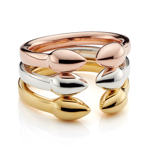 Fiji Bud Stacking Ring Set - Monica Vinader