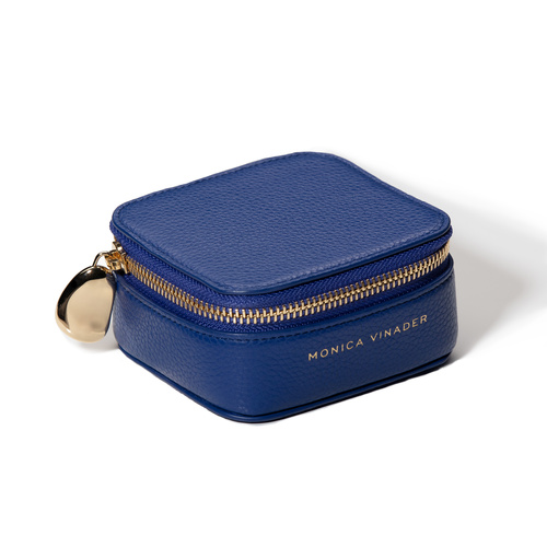 Leather Personalised Leather Trinket Box with dustbag - Navy Blue - Monica Vinader