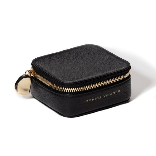 Leather Personalised Leather Trinket Box - Black - Monica Vinader
