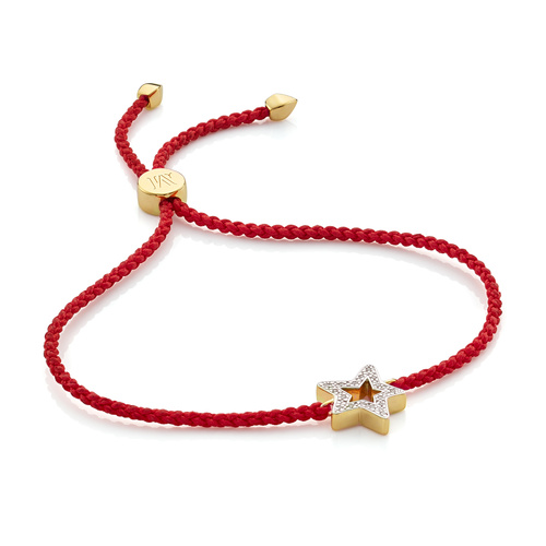 Gold Vermeil Alphabet Star Diamond Friendship Bracelet - LIMITED EDITION - Diamond - Monica Vinader