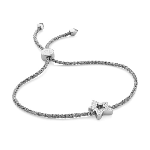 Sterling Silver Alphabet Star Diamond Friendship Bracelet - LIMITED EDITION - Diamond - Monica Vinader