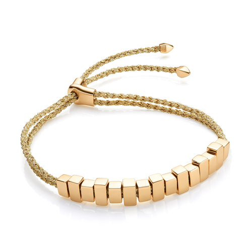 Gold Vermeil Linear Ingot Friendship Bracelet - Gold Metallica - Monica Vinader
