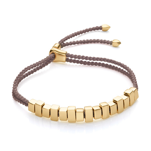 Gold Vermeil Includes £50 donation to NHS: Linear Ingot Bracelet - Mink - Monica Vinader