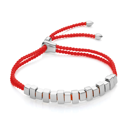 Sterling Silver Includes £50 donation to NHS: Linear Ingot Bracelet - Coral - Monica Vinader