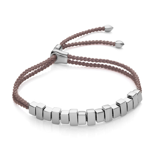 Sterling Silver Includes £50 donation to NHS: Linear Ingot Bracelet - Mink - Monica Vinader