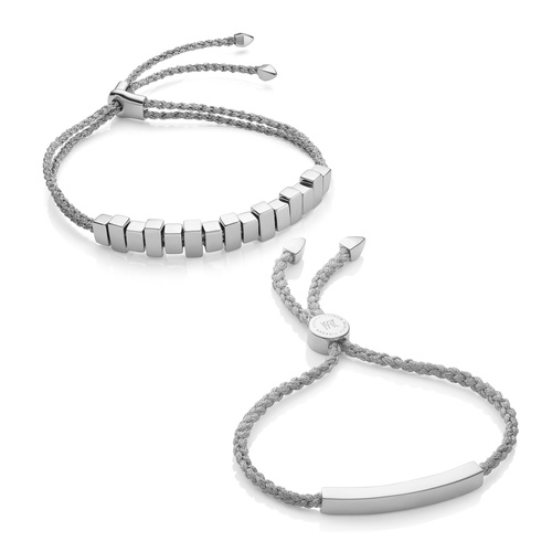 Linear Friendship Bracelet Set - Monica Vinader