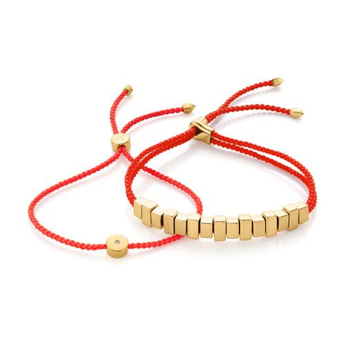 Linear Ingot and Solo Friendship Bracelet Set - Monica Vinader