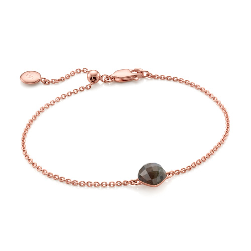 Rose Gold Vermeil Nura Mini Nugget Bracelet - LIMITED EDITION - Labradorite - Monica Vinader