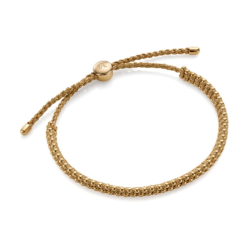 Gold Vermeil Rio Mini Friendship Bracelet - Gold Metallica - Monica Vinader