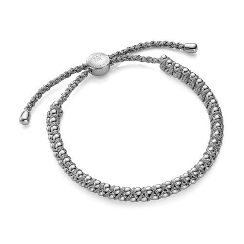 Sterling Silver Rio Friendship Bracelet - Silver Metallica - Monica Vinader