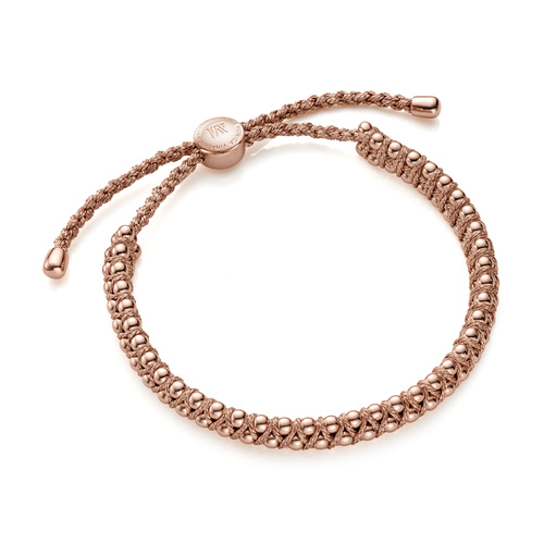 Rose Gold Vermeil Rio Friendship Bracelet - Rose Gold Metallica - Monica Vinader