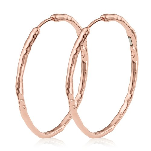 Rose Gold Vermeil Siren Muse Large Hoop Earrings - Monica Vinader