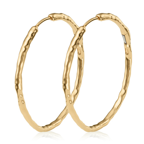 Gold Vermeil Siren Muse Large Hoop Earrings - Monica Vinader